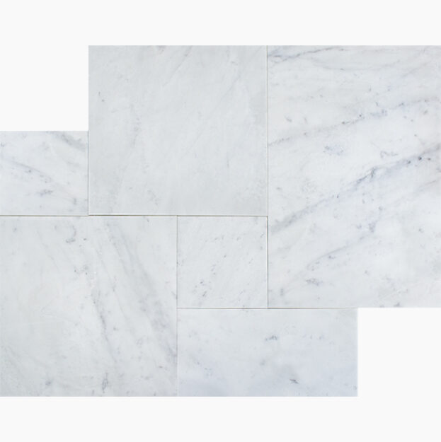 French-Pattern-BIANCO-CARRARA-BELLA-PremiumSELECT-Brushed-Soft-Edge-Marble-TILE